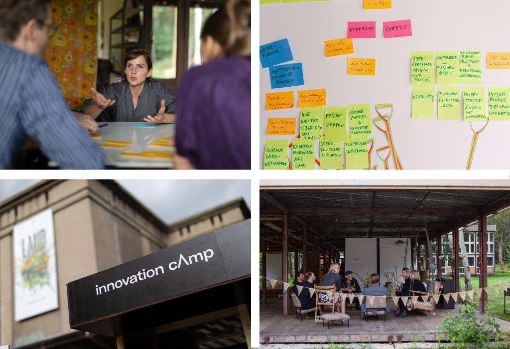 InnovationCamp LANDSICHTEN - Uleshka giving a participatory workshop.